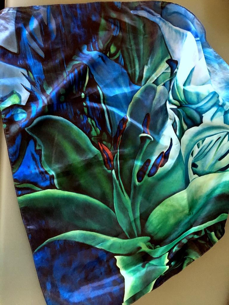 Blue Green Lilly šátek