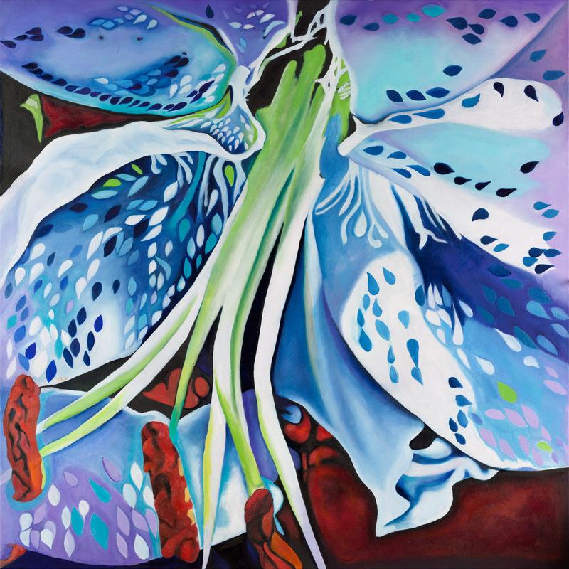 Lilie modrý motýl
