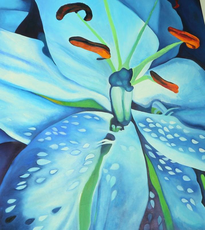 Lilie modrá vážka
